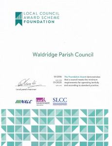 local council award scheme certificate 2016