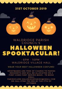 Halloween Spooktacular! @ Waldridge Village Hall